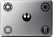 5 Stickers STAR WARS SYMBOLS, vinyl decal for MacBook pro air 11, 13 15 17''