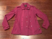 Oakley Women's Purple Double Breasted Fleece Warm Casual Coat Jacket Sz M Rare