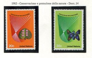 19167) UNITED NATIONS (New York) 1982 MNH** Nuovi** Nature