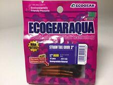 """53218) ECOGEAR STRAW TAIL GRUB 2"""" 12pcs #A08 Pink Pearl Glow"""