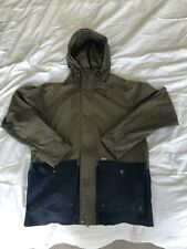 Carhartt Port Jacket Medium Green Blue Hooded Coat M Parka Trench