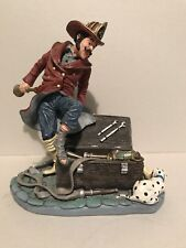 Duncan Royale Fireman With Dog And Tools Limited Edition #322 Vintage 1990
