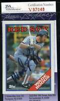 Wade Boggs 1988 Topps Jsa Coa Hand Signed Authentic Autograph