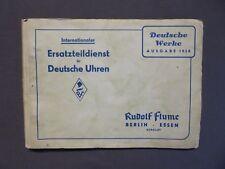 Uhrmacher Rudolf Flume Werk-sucher Wecker 1945 Große Kleine Weckerwerke Etuis 8-tag Uhren StraßEnpreis Antiquitäten & Kunst