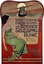 TEATRO di Berlino - 1900 Pubblicità A3 Stampa Artistica Poster