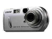 Sony Cyber-shot DSC-P72 3.2MP Digital Camera - Silver