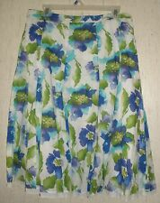 WOMENS dressbarn LINED FLORAL PRINT SKIRT   SIZE 14