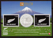 NEW ZEALAND 2011 PHILANIPPON STAMP EXHIBITION MINIATURE SHEET U. MINT. RUGBY