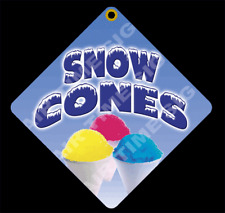 Snow Cones Diamond Concession Sign Trailer Stand 12 X 12 2 Sided