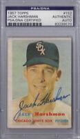 Jack Harshman Signed 1957 Topps - PSA DNA