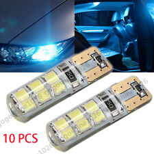 10x T10 W5W 12SMD 2835 LED Light Canbus Error Free Silica  Bulb Lamp Ice Blue
