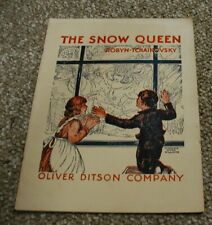 The Snow Queen Sheet Music Songbook. P Tchaikovsky. Louise Robyn. Vintage 1934
