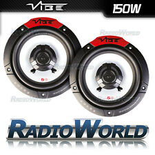"VIBE Pulse 5 5.25"" 130mm 150W 2-Way CAR Audio Altoparlanti Porta Scaffale/Coppia"