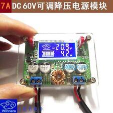 7A DC-DC CC CV Step Down Power Supply Module LCD Dual Display + Case Adjustable