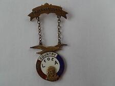Sterling silver Enamel Pin Badge FOE Los Angeles LA Fraternal Order of Eagles