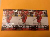 Brandon Sutter 08-09 Upper Deck Young Guns Rookie 3 Card Lot Carolina Hurricanes