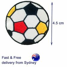 Soccer ball iron on patch fc club world cup football embroidery iron-on patches