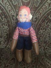 """Howdy Doody Cowboy Cloth Stuffed Plush Rag Doll 1988 10"""" Applause"""