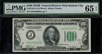 1934B $100 Federal Reserve Note - Kansas City - FR. 2154-J - Graded PMG 65 EPQ