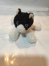 Rare Aurora Flopsies Black & White Cat Cookie Plush Stuffed Toy Animal