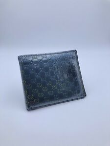 Gucci Guccisima Green And Blue Pattent Leather Wallet (K-89)