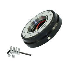 Universal Car Steering Wheel Quick Release Hub Adapter Snap Off Boss Kit Black