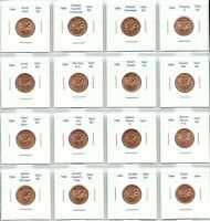 Canada 1964 Small Cents 16 Coin Set Gem BU Variety & Error Collection!!
