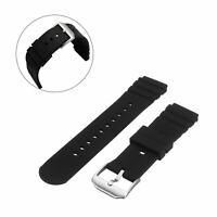 Black 21mm Watch Band Strap For Luminox Colormark Navy Seal 3900 3000 8400 8000