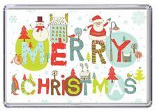 Merry Christmas Xmas Fridge Magnet 06
