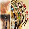 Damen Haarspange Metall Strass Kristall Haarschmuck Haarreifen Haarreif Gesche`