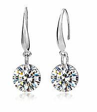 Ladies Fashion Elegant Silver Plated Austrian Crystal Drop Earings for Women