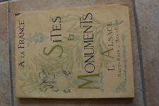 A la France, Sites et monuments, TCF en 1929 : ALSACE, Haut Rhin et Bas Rhin