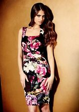 Wiggle, Pencil Floral Synthetic Sleeveless Dresses for Women