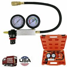 Cylinder Leak Down Leakage Tester Detector Engine Compression Gauges Test Tool