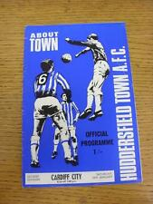 24/01/1970 Huddersfield Town v Cardiff City  (Light Crease, Fold). Item in very