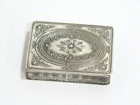 3 1/8 in - Sterling Silver Antique French Floral Snuff Box