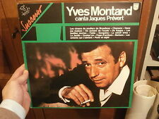 """12"""" YVES MONTAND canta Jacques Prevert 1962  Philips – 9279.039 EX EX"""
