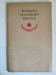 Pre WW2 Late 1930s FANY Women's Transport Service WTS (F.A.N.Y) Recruitment Book
