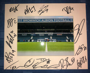 West Brom Albion WBA 21/22 HAND SIGNED 10x8 MOUNT DISPLAY Signed By 15 Players E