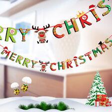 Design Christmas Hanging Santa Claus Elk Banner Ornament Xmas Party Decoration