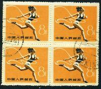 China 1959 PRC C72-9 First Ntl Sports Track Scott #475 CTO Block S475