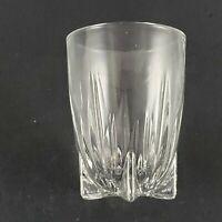 Vintage Elegant Shot Glass by Federal Glass Ribbed w Star Base Bar Barware MCM