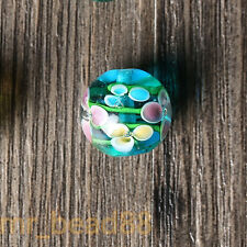 12/14mm Plum Flower Glass Beads DIY Necklace Bracelet Loose Beads Findings