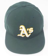 Oakland A's Athletics MLB Baseball Cap Green Hat Official On Field New Era 5950