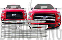 2015-2017 Ford F150 chrome grille grill insert overlay trim XL XLT Only