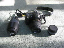 Nikon D D80 10.2Mp Digital Slr Camera - Black (Kit w/ 18-70mm Lens) Extra Lens!