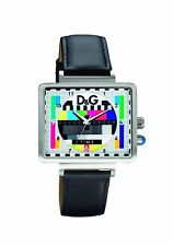 Dolce & Gabbana DW0514 Medicine Unisex TV Test Card Design Leather Strap Watch