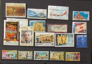 Malta Postage Stamps 17 used unmounted stamps