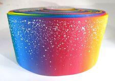 """UU. 3/"""" Color Purpurina Pastel Cinta del Grosgrain Hágalo usted mismo ánimo arcos vendedor de EE"""