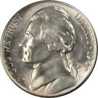 1946 S 5c Jefferson Nickel US Coin BU Uncirculated Mint State